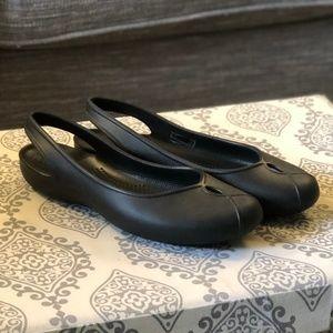 Crocs | Olivia II Black Slingback Slip-On Flats